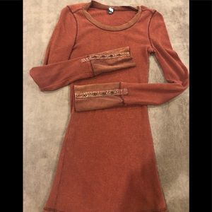 Free people waffle knit long sleeve thermal!